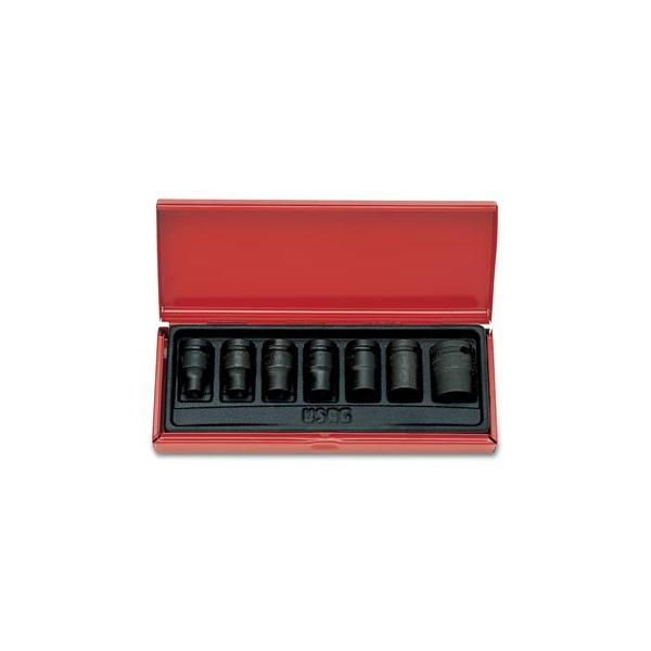 USAG Set of sockets in sheet steel box (7 pcs) - 1