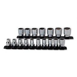 "USAG Set of 17 3/8"" bihexagonal sockets - 1"
