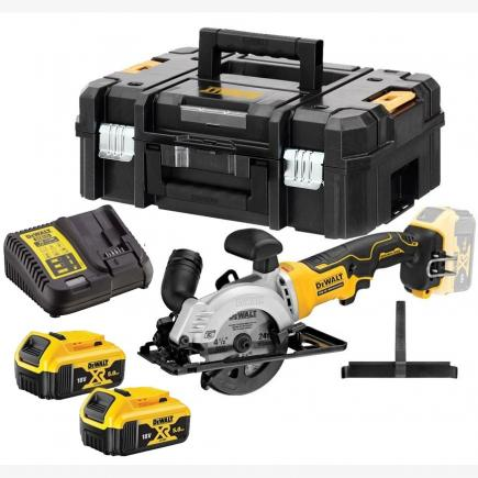 DeWALT 115mm Circ Saw Kitted 2x 5.0Ah - 1
