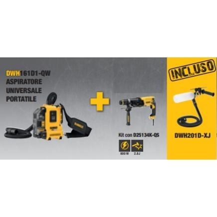 DeWALT Dust collector kit DWH161D1-QW + Fitting system DWH201D-XJ + Hammer D25134K-QS - 1