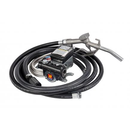 "MECLUBE Transfer electric kit pumps for diesel ""Battery Kit"" 60 lt/min 12V manual nozzle - 1"