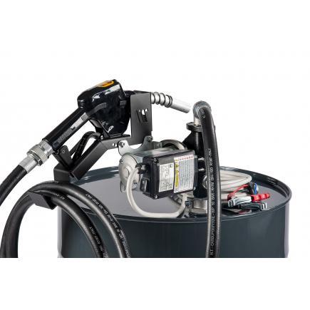 "MECLUBE Transfer electric kit pumps for diesel ""Barrel Kit"" 60 lt/min 24V automatic nozzle - 1"
