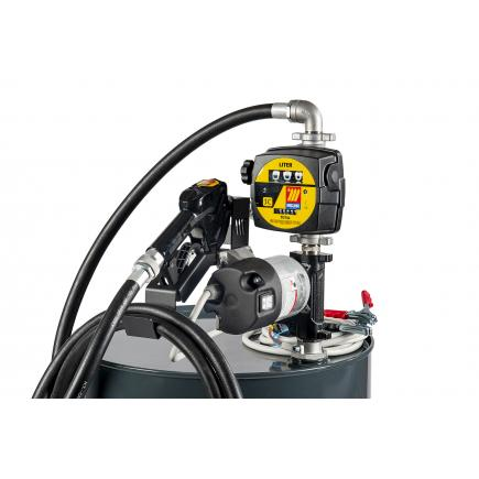 """MECLUBE Transfer electric kit pumps for diesel """"Barrel Kit"""" 85 lt/min 12V automatic nozzle with flow meter - 1"""