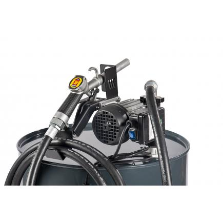 "MECLUBE Transfer electric kit pumps for diesel ""Barrel Kit"" 70 lt/min 115V manual nozzle - 1"