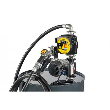 "MECLUBE Transfer electric kit pumps for diesel ""Barrel Kit"" 60 lt/min 230V manual nozzle with flow meter - 1"