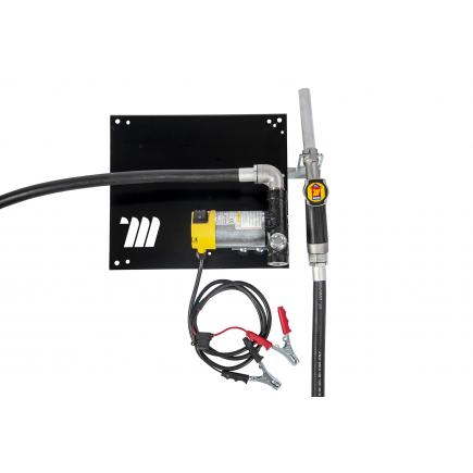 """MECLUBE Wall dispenser for diesel transfer """"Compact"""" 45 lt/min 24V manual nozzle - 1"""