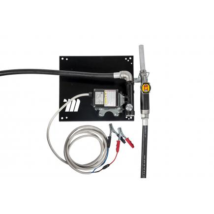 """MECLUBE Wall dispenser for diesel transfer """"Compact"""" 60 lt/min 24V manual nozzle - 1"""