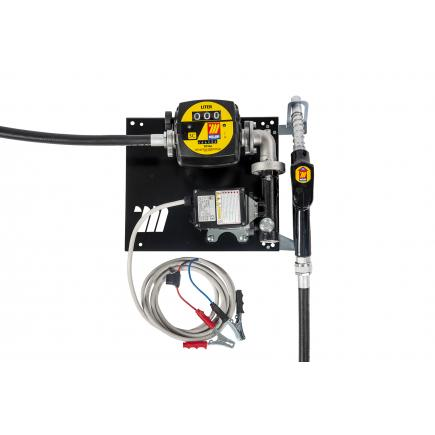 """MECLUBE Wall dispenser for diesel transfer """"Compact"""" 60 lt/min 24V automatic nozzle with flow meter - 1"""