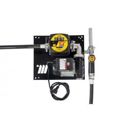 """MECLUBE Wall dispenser for diesel transfer """"Compact"""" 70 lt/min 230V manual nozzle with flow meter - 1"""