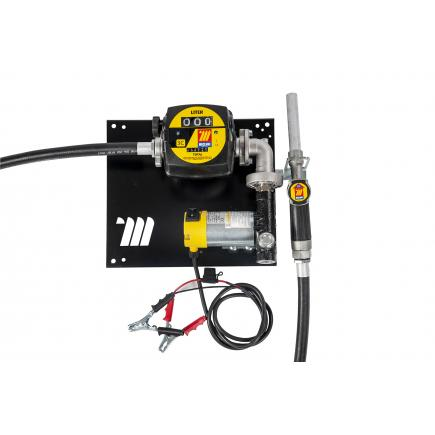 """MECLUBE Wall dispenser for diesel transfer """"Compact"""" 45 lt/min 12V manual nozzle with flow meter - 1"""