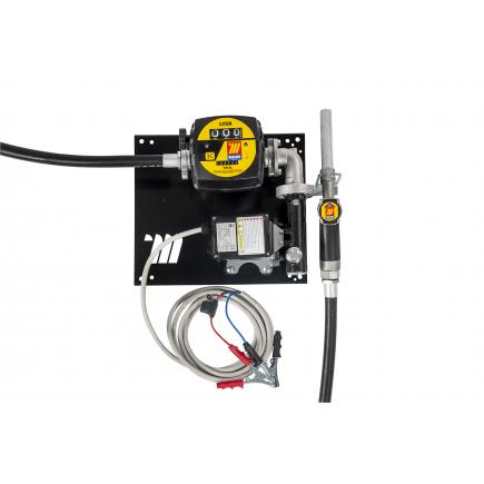 """MECLUBE Wall dispenser for diesel transfer """"Compact"""" 60 lt/min 12V manual nozzle with flow meter - 1"""