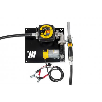 """MECLUBE Wall dispenser for diesel transfer """"Compact"""" 45 lt/min 24V manual nozzle with flow meter - 1"""