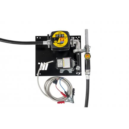 """MECLUBE Wall dispenser for diesel transfer """"Compact"""" 60 lt/min 24V manual nozzle with flow meter - 1"""