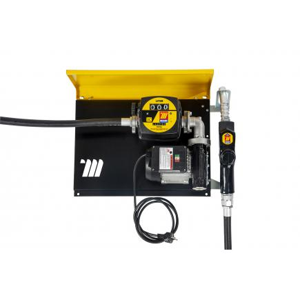 """MECLUBE Wall dispenser for diesel transfer """"Wall Mec"""" 70 lt/min 115V automatic nozzle with flow meter - 1"""