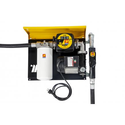 "MECLUBE Wall dispenser for diesel transfer ""Wall Mec"" 70 lt/min 115V automatic nozzle with flow meter with filter - 1"