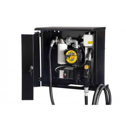 """MECLUBE Diesel cabinet dispenser """"Meclube Box"""" 100 lt/min 115V automatic nozzle with flow meter with filter - 1"""