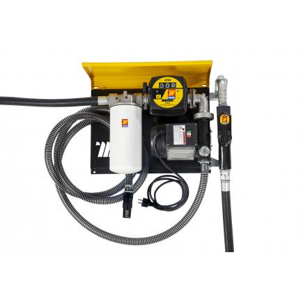 "MECLUBE Wall dispenser for diesel transfer ""Wall Mec"" 100 lt/min 115V automatic nozzle, suction hose kit and flow meter filter - 1"
