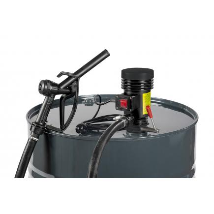 """MECLUBE Centrifugal pump kit for diesel transfer """"Dispenser Kit"""" 40 lt/min 115V manual nozzle - 1"""