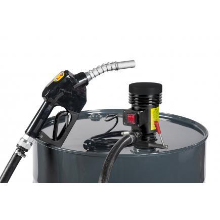 """MECLUBE Centrifugal pump kit for diesel transfer """"Dispenser Kit"""" 35 lt/min 12V automatic nozzle - 1"""
