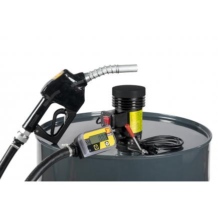 """MECLUBE Centrifugal pump kit for diesel transfer """"Dispenser Kit"""" 35 lt/min 24V automatic nozzle with flow meter - 1"""