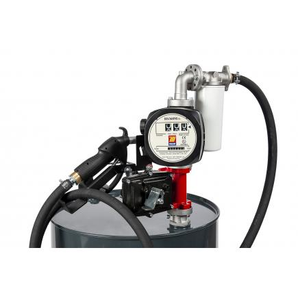"MECLUBE Kit electric pumps for gasoline transfer ""Benz Kit"" 50 lt/min 12V manual nozzle with flow meter and filter - 1"