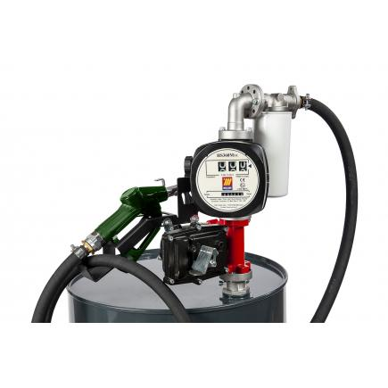 """MECLUBE Kit electric pumps for gasoline transfer """"Benz Kit"""" 50 lt/min 230V automatic nozzle with flow meter and filter - 1"""