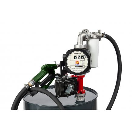 "MECLUBE Kit electric pumps for gasoline transfer ""Benz Kit"" automatic nozzle with flow meter and filter - 1"