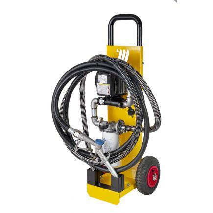 """MECLUBE Wheeled filter group for oil/diesel """"EcoFilter"""" 60 lt 230V - 1"""
