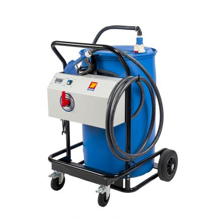 """MECLUBE Transfer trolley for cars AdBlue® """"Mec-Blue"""" 230V 50Hz automatic nozzle and flow meter - 1"""