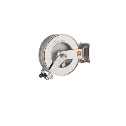"""MECLUBE Stainless steel automatic hose reels SX-555 swivelling for water 150°C 400 bar 1/2"""" 25 m - 1"""