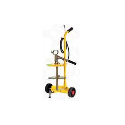 MECLUBE Manual wheeled grease pump for 12-20 kg drums outlet grease pressure 350-400 bar - 1