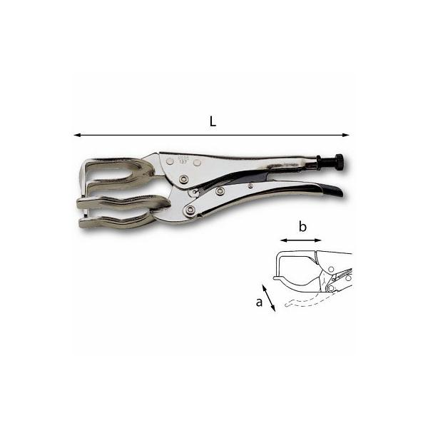 USAG Lock-grip pliers with fork-shaped jaws - 1