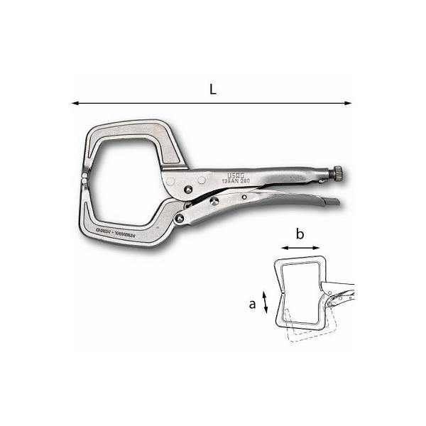 USAG Lock-grip pliers with C-clamp jaws - 1