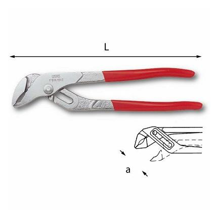 USAG Lay-on slip-joint adjustable pliers with channels - 1