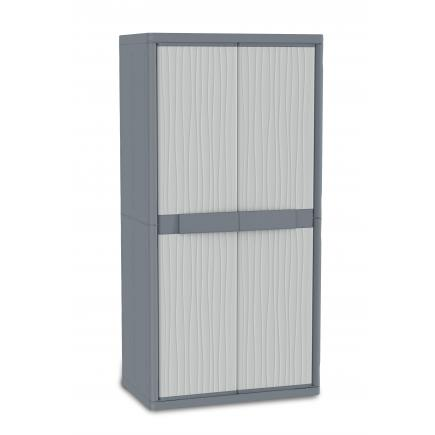 TERRY 1002564   JUMBO 3900 UW   Doors Outdoor Cabinet 89,7x53,7x180   4  Adjustable Inner Shelves   1 Broom Holder