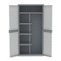 TERRY Doors Outdoor Cabinet 89,7x53,7x180 - 4 adjustable inner shelves - 1 broom holder - 3