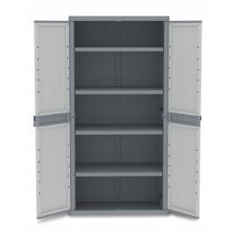 TERRY 2 Doors Outdoor Cabinet 89,7x53,7x180 - 4 adjustable inner shelves - 3