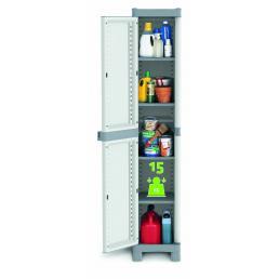 TERRY 1 Door Outdoor Cabinet 35x43,8x181,8 - 4 adjustable inner shelves - 2