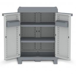 TERRY 2 Doors Outdoor Cabinet 70x43,8x97,6 - 2 adjustable inner shelves - 2 bins - 3