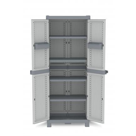 TERRY 2 Doors Outdoor Cabinet 70x43,8x181,8 - 4 adjustable inner shelves - 2 bins - 3