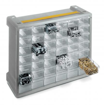 TERRY Portable stacking & nesting drawer cabinet - 42 drawers - 1