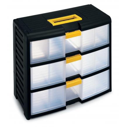 TERRY Modular portable drawer cabinet with locking system - 3 drawers - 1