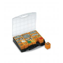 TERRY Plastic organizer with lid and 16 removable bins - 1