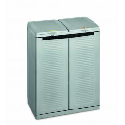 TERRY 2 door resin cabinet for differentiated waste collection - Grey - 2