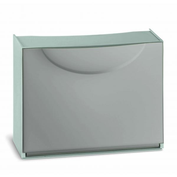 TERRY  Overlapping plastic shoe storage - Capacity 3 pairs - Dove-grey - 1