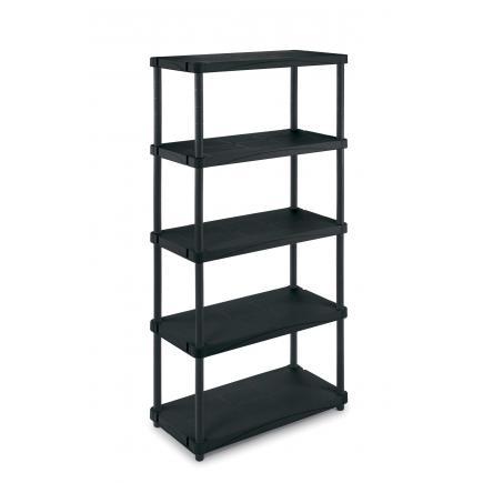 TERRY Modular outdoor resin 5 shelves unit 80x40x173,4 - 2