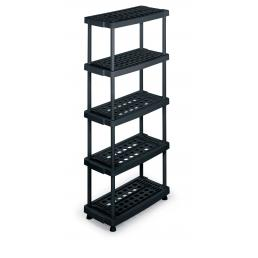 TERRY Modular 5 shelves plastic unit 79x39x176 - 3