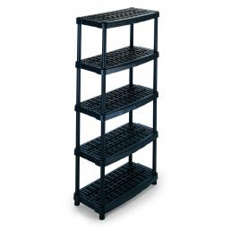 TERRY Modular 5 shelves plastic unit 93x45,3x188,5 - 3