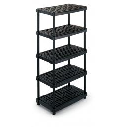 TERRY Modular 5 shelves plastic unit 93x59x188,5 - 1