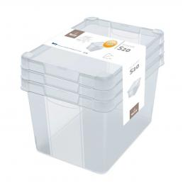 TERRY  Set of 3 multipurpose transparent boxes 20 l. - 1